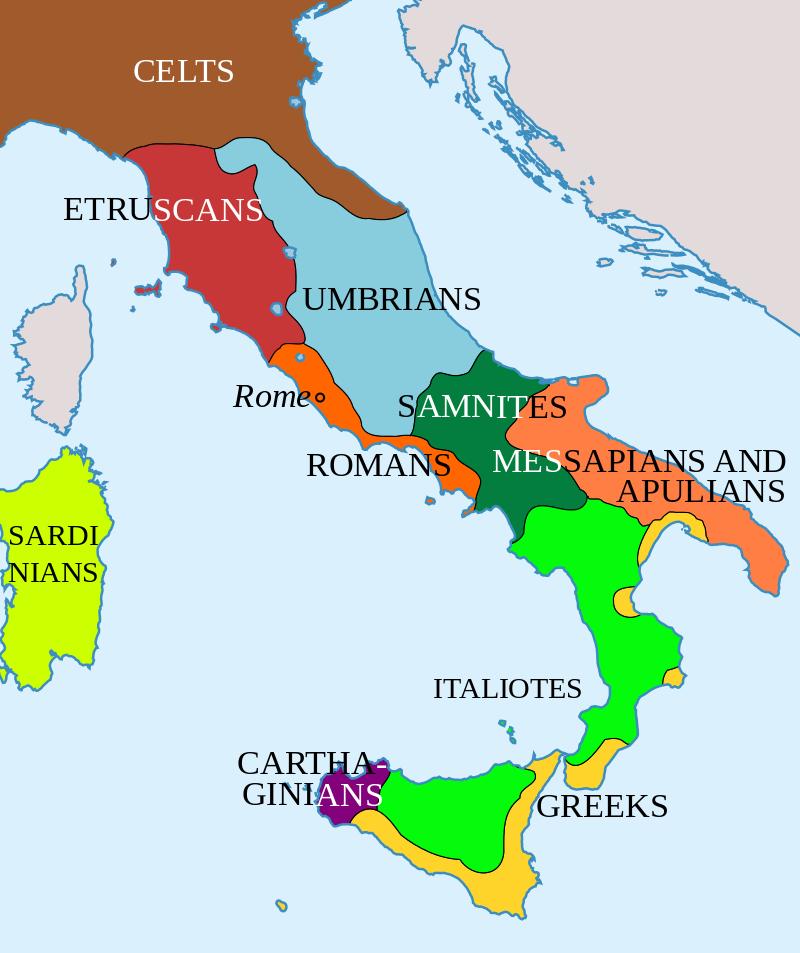 Italy in 400 BC Roman Maps