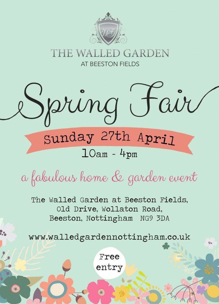 Walled Garden spring food and gift Fair Nottingham 27th April 2014 - clothing drive flyer template