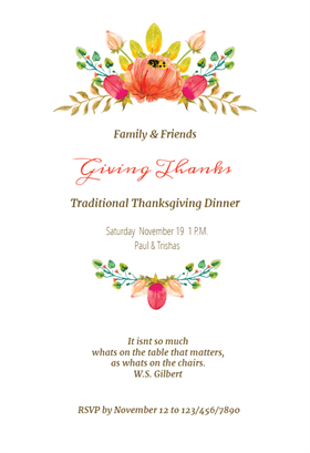 Sweet Swags - Free Printable Thanksgiving Invitation Template ...