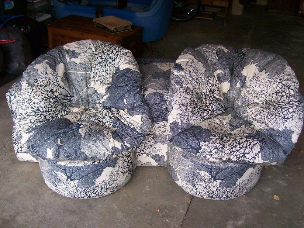 Rare 1970s Folding Foam Sleeper Love Seat / Spherical Furniture Frank Petersilie #Retro #SphericalFurniture