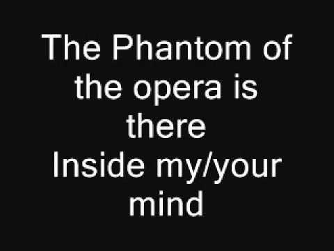 The Phantom Of The Opera Lyrics Phantom Of The Opera Opera Music
