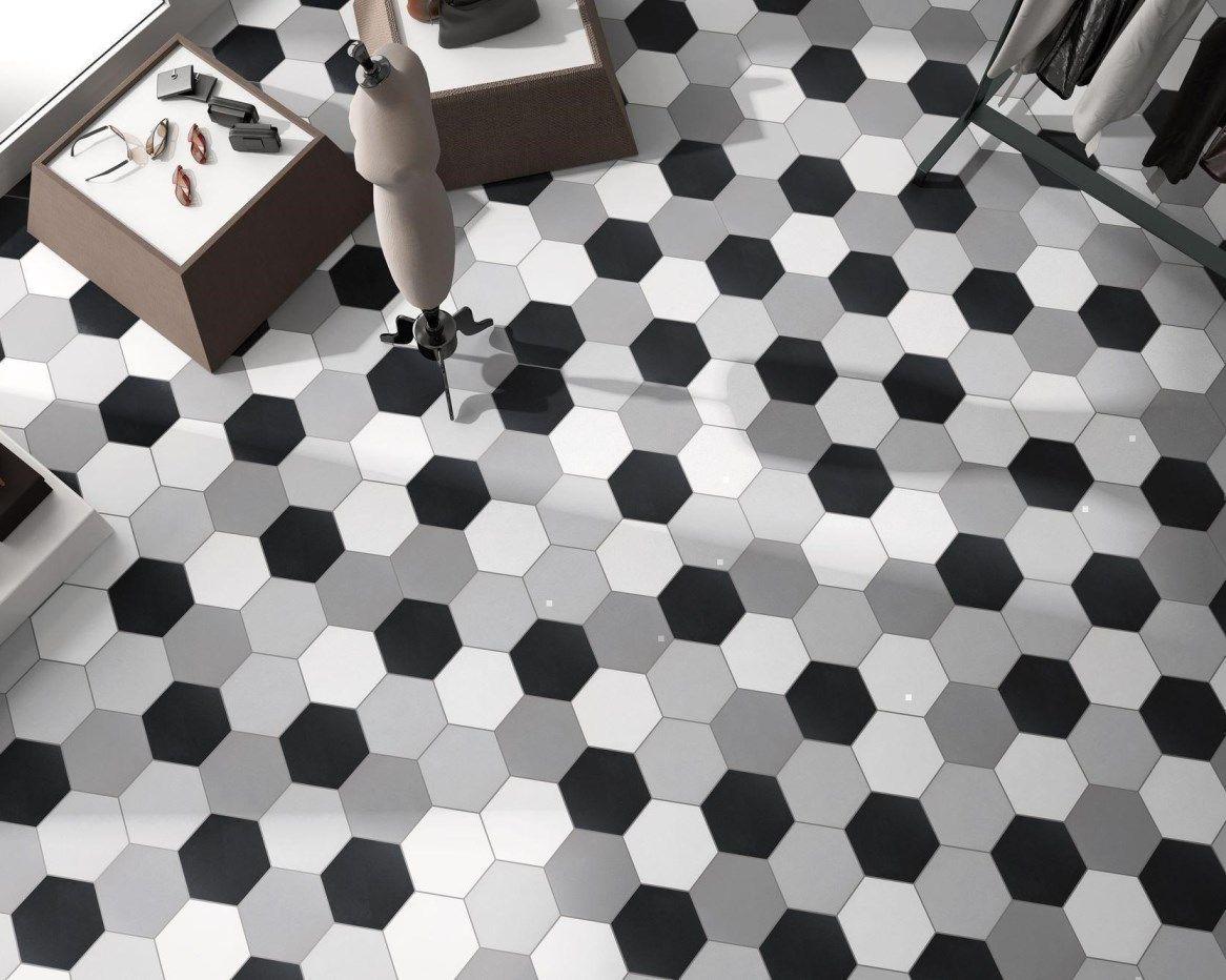 Le Carrelage Hexagonal Basic Est Une Collection Developpee Avec 14