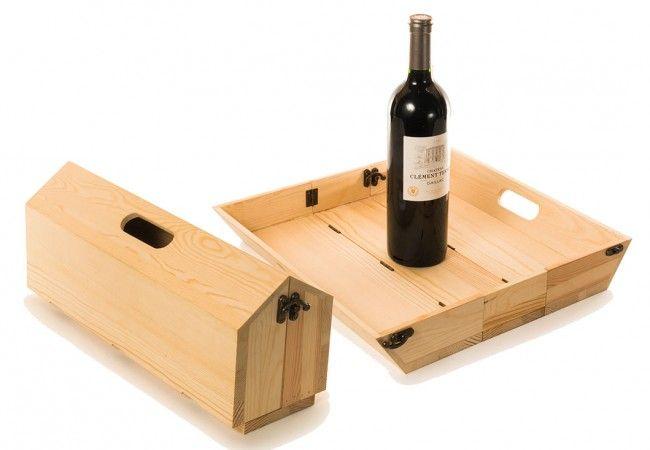 Tray Chique Luxe Houten Wijnkist En Dienblad In één Kookslaaf Cajas De Vino Cajas De Madera Para Vinos Armarios De Vino