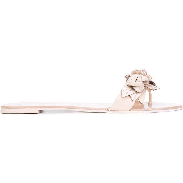 SOPHIA WEBSTER Floral applique flat sandals 5Vty3TC