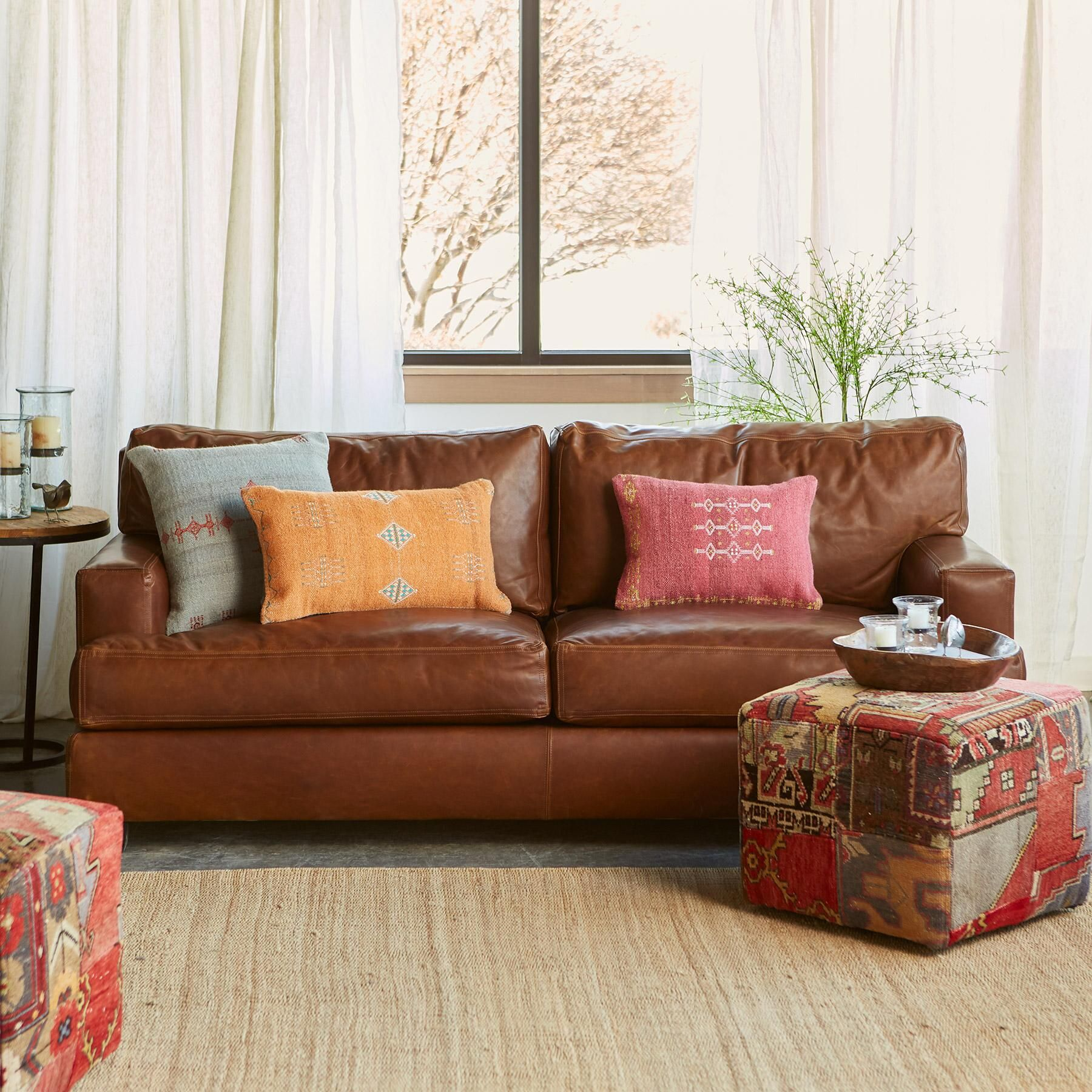 CORMAC LEATHER SOFA A fabulously solid and fortable sofa