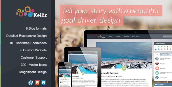 Keilir   Personal Wordpress Blog Theme   Wordpress blog themes ...