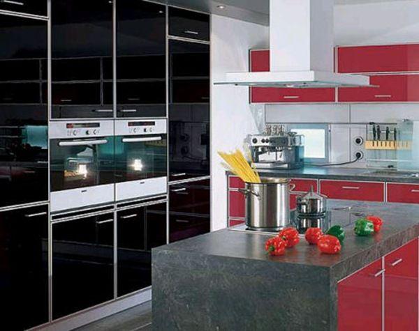 Cocina moderna isla lindas cocinas black kitchen for Cocinas completas modernas