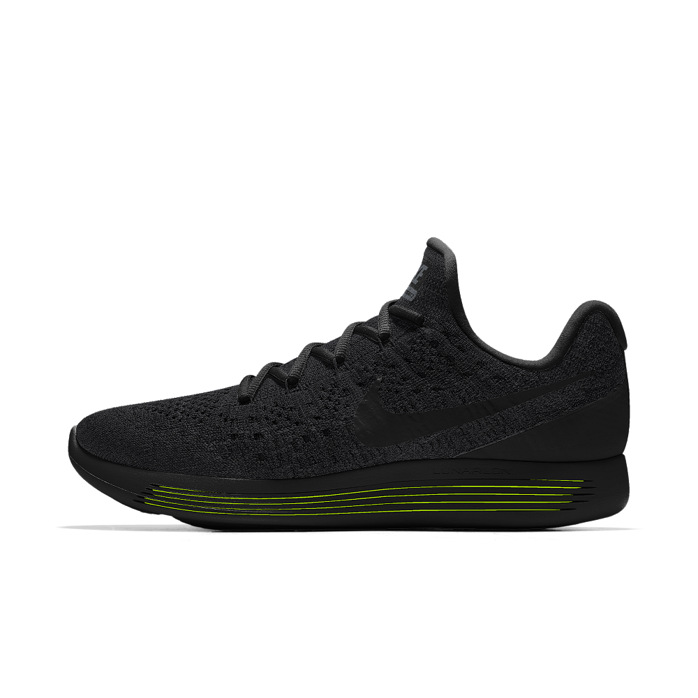 new product d7a12 f3762 Nike LunarEpic Low Flyknit 2 iD Men s Running Shoe Size 10.5 (Black)