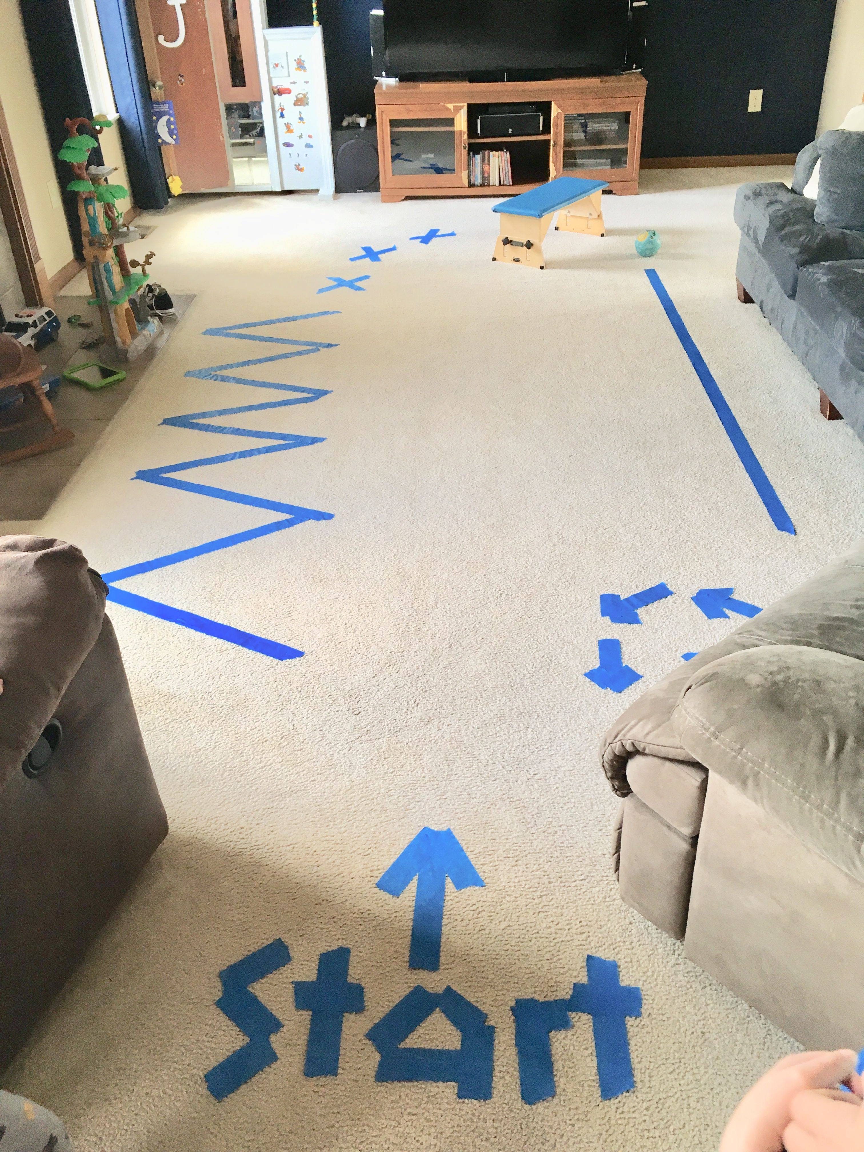 Indoor Painters Tape Obstacle Course The Little Kids Love
