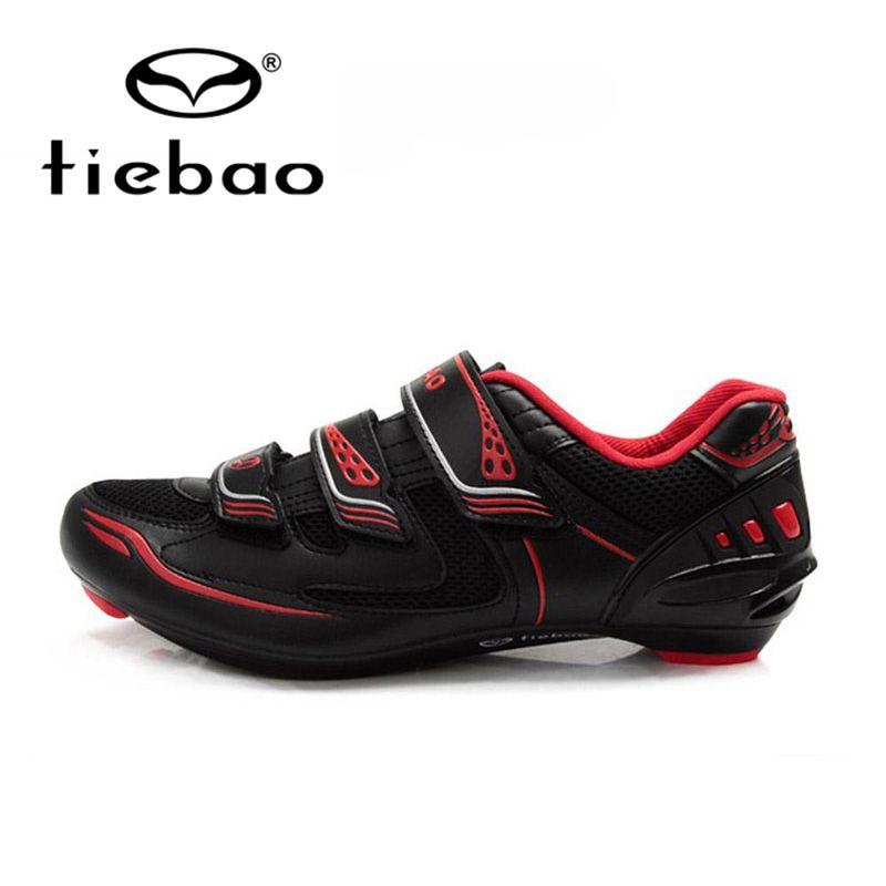 Tiebao Black Road Bike Shoes Ultralight Bicycle Road Shoes Men Cycling Shoes Self-Locking Sport Shoes zapatillas ciclismo