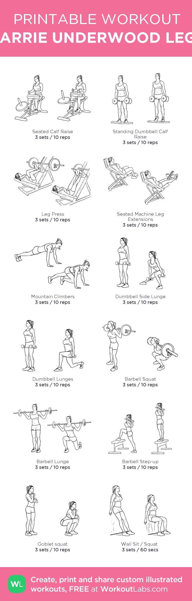CARRIE UNDERWOOD LEGS · WorkoutLabs Fit