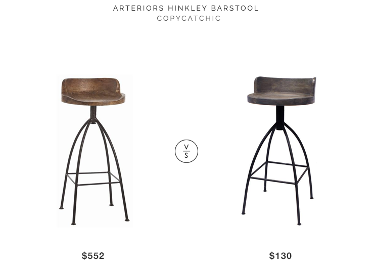 Home Click Arteriors Hinkley Barstool For $552 Vs At Home Safaree Stool For  $130 Copycatchic Luxe