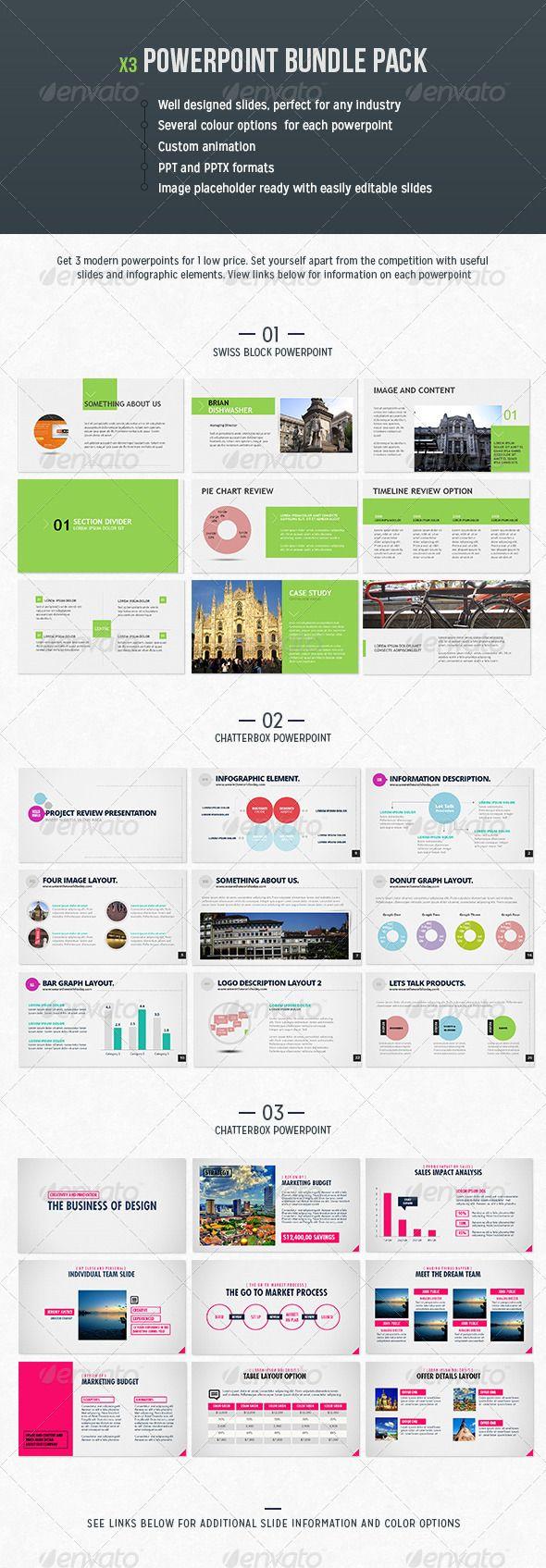 Powerpoint Bundle Cool powerpoint templates, Creative