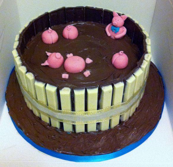 Cake Decorating Mud Cake Recipe : Top 10 Funny and Creative Pigs in mud Cakes Cake ...