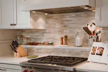 Limestone Tile From Walker Zanger And The Ledge Itself Is The Same Quartz  As The Countertop.u201d U201cThe Material For The Backsplash Was Limestone.
