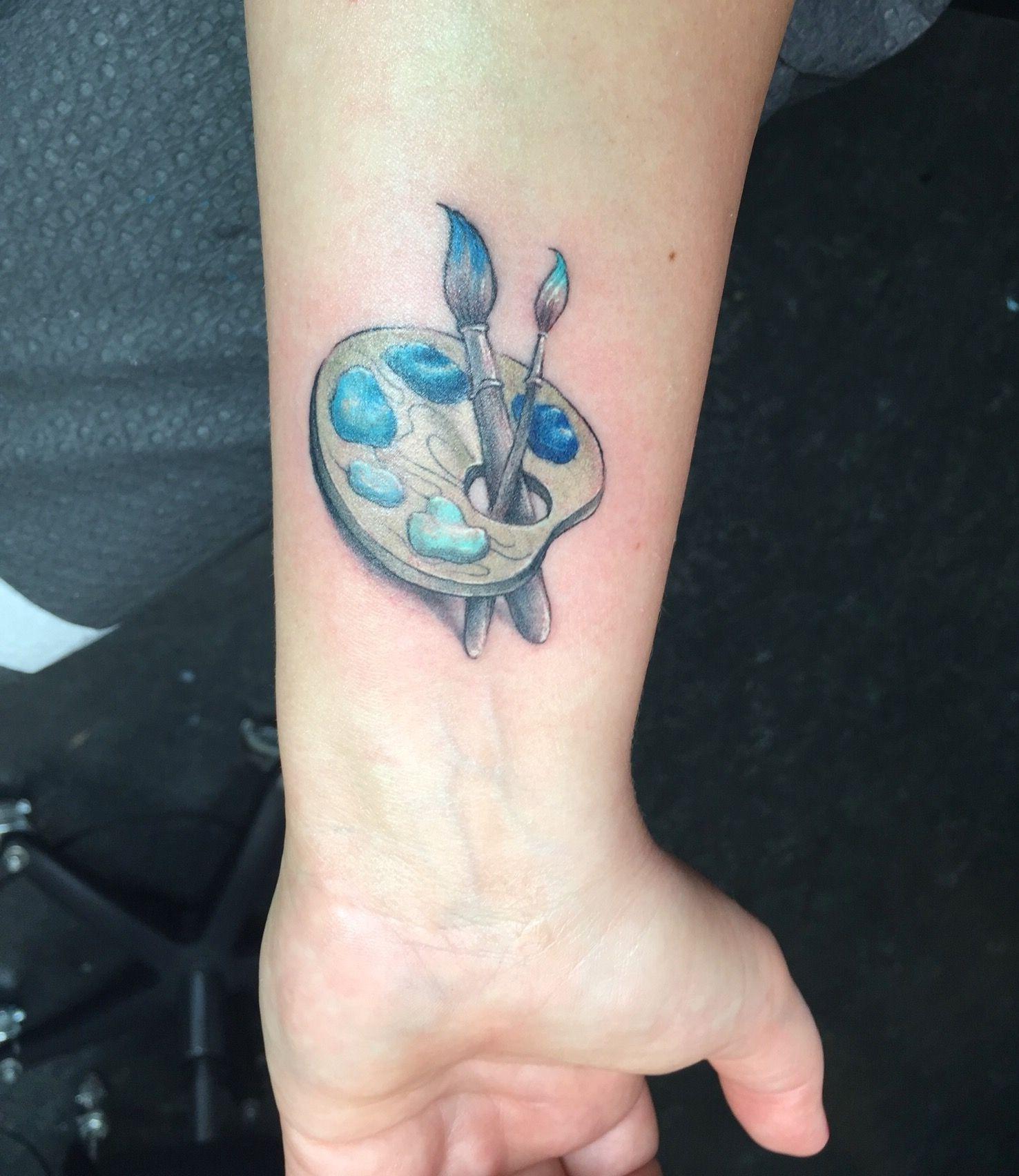 Artist Paint Palette Tattoo By Marie Sherping Ink Tattoo Weird Tattoos Art Tattoo