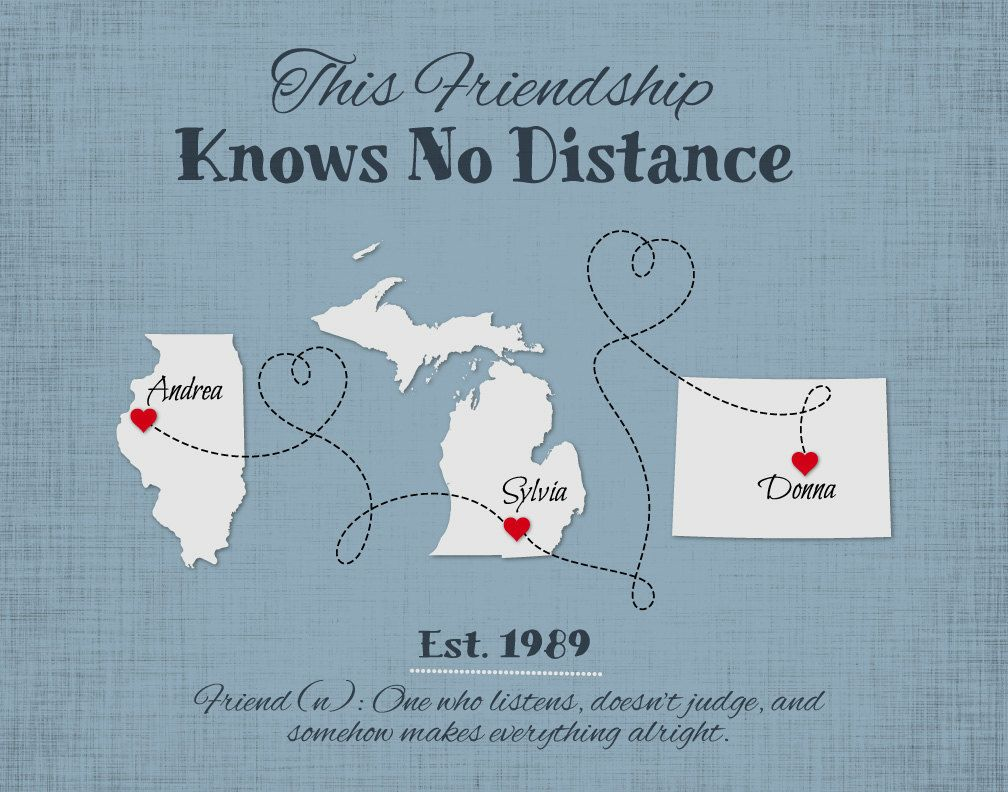 Personalized Friendship Gift Long Distance Friendship