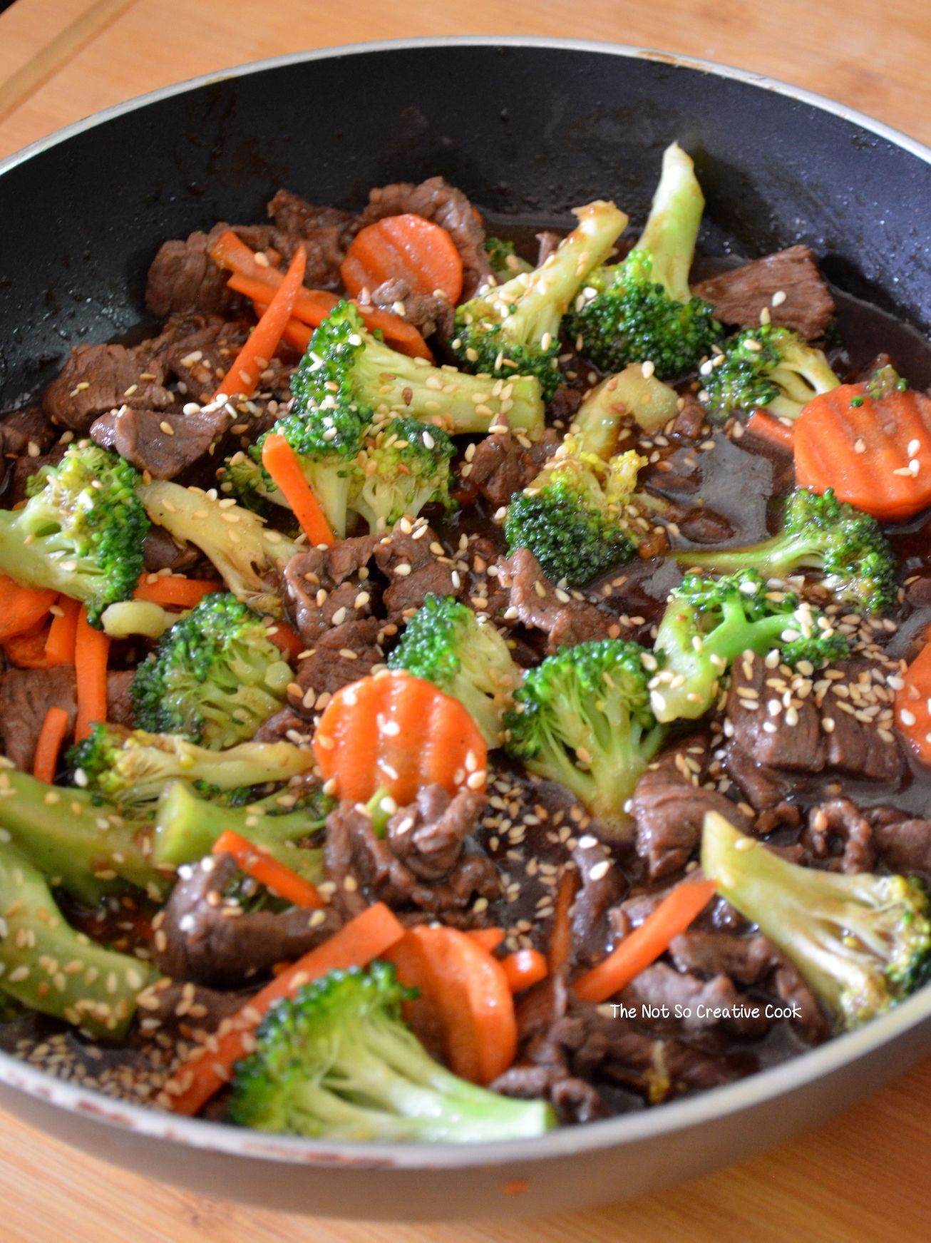 Saucy Beef With Broccoli And Carrots The Not So Creative Cook Recipe In 2020 Broccoli Beef Steak And Broccoli Beef