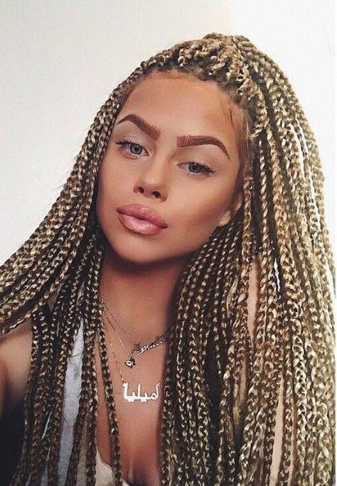 Hair Color Dirty Blond Dark Ash Blonde Box Braids In