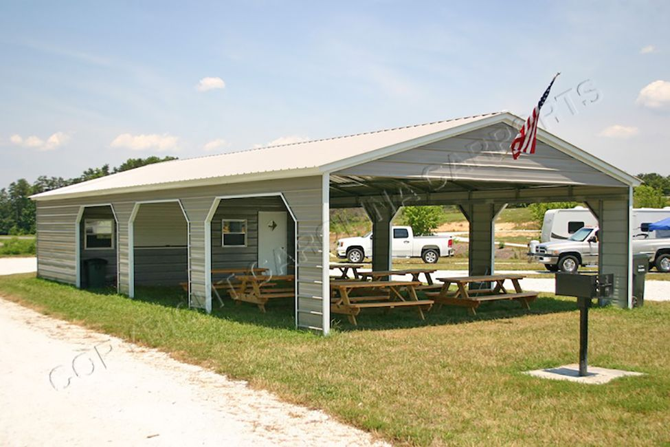 Carports can be used for so much more than just RV covers