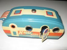 Toy Tin Litho House Trailer/Camper - made in Japan-1950's-60's