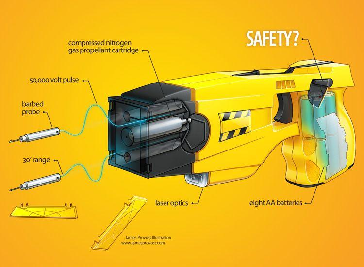 Taser Cutaway u2022 James Provost - Technical Illustrator Cutaway - technical illustrator resume