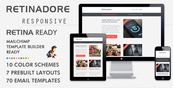 Retinadore - Responsive Email Newsletter Template Newsletter - email newsletter template