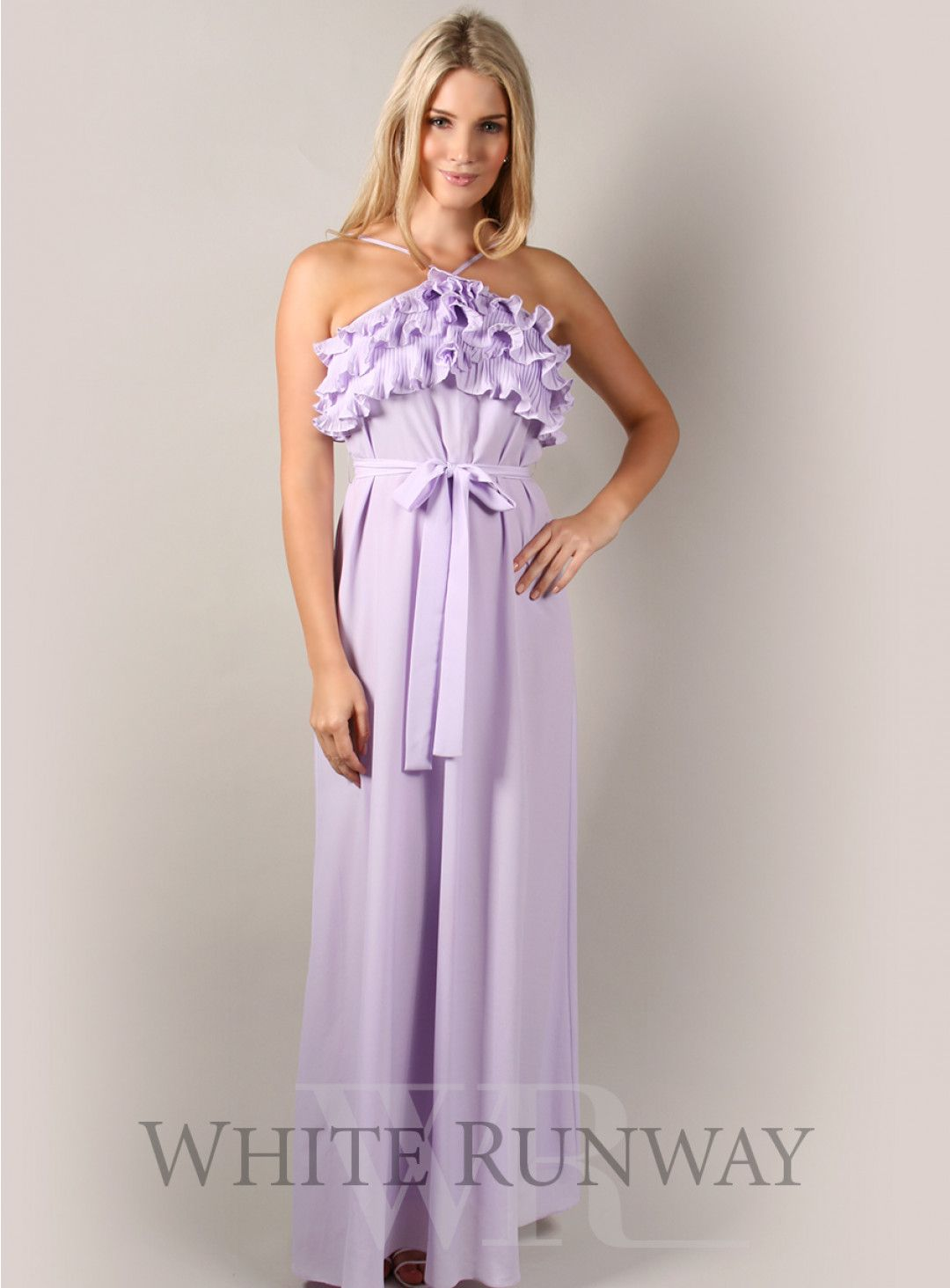 d275cc90d3b2 Frilled Honey   Beau lavender lilac coloured maxi dress. A gorgeous colour  for summer that can be dressed up for special occasions. Makes a great dress  for ...
