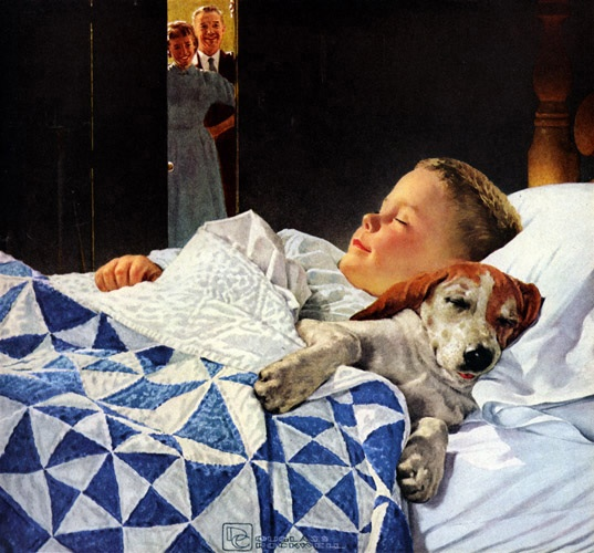 Norman Rockwell I think all of my childhood and young life I was enraptured by his paintings. Mom loved his attention to details. I love the mood they evoked.