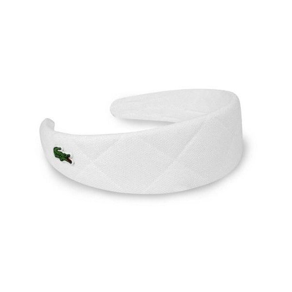 Lacoste Women S Quilted Pique Tennis Headband Liked On Polyvore Featuring Accessories Hair Accessories Lacoste Headband Head W Lacoste Diademas Accesorios