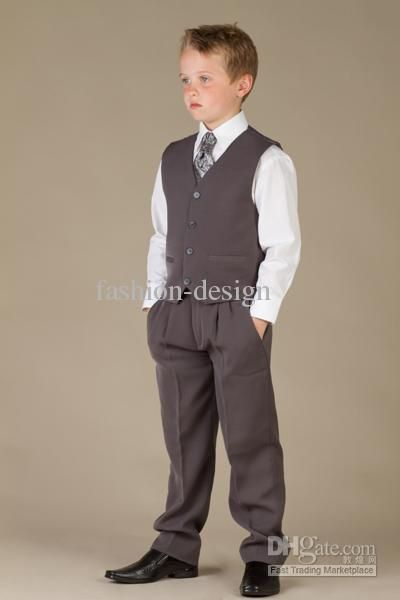 New Boys' Attire Boy Wedding Suit Kid Suits Groom Wear Formal Wear ...