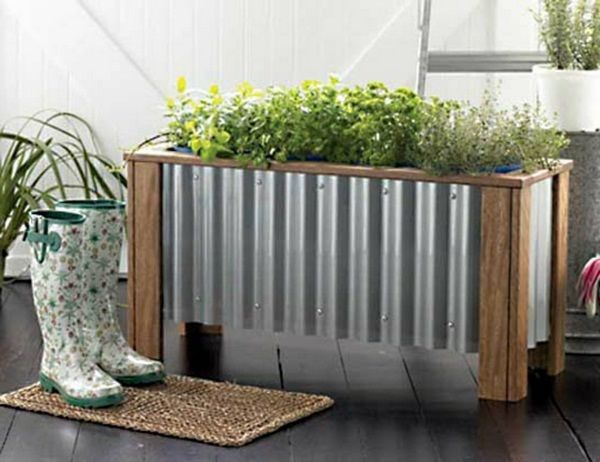 Planters wood-aluminum small mat