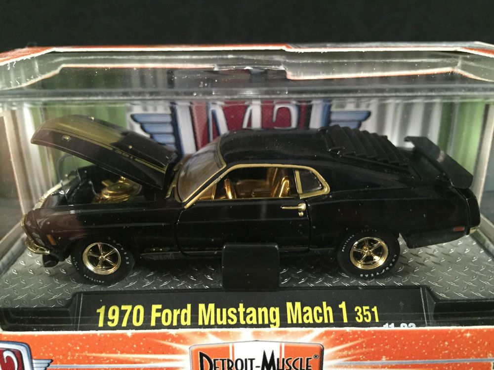 M2 Machines Detroit Muscle Release 15 1970 Ford Mustang Mach 1 351 Black Chase 1970 Ford Mustang Ford Mustang Dodge Super Bee