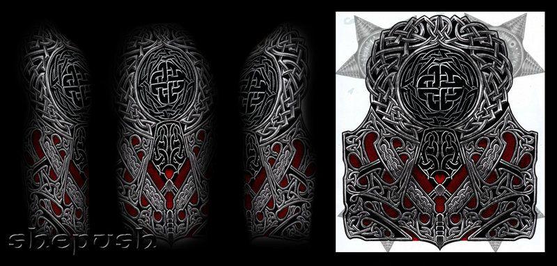 celtic style half sleeve by on deviantart tattoos pinterest tattoo. Black Bedroom Furniture Sets. Home Design Ideas