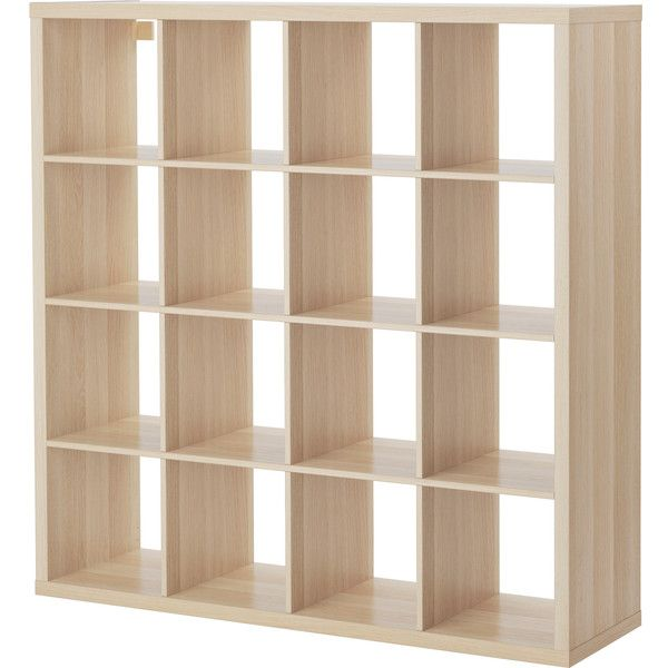 Kallax Shelving Unit White Stained Oak Effect 115 Liked On Polyvore Featuring Home Furniture Storage Shelves Wood