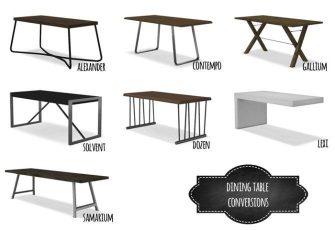 Dining Table Conversions At Mio Sims 4 Updates Sims 4 Kitchen Sims 4 Sims 4 Cc Furniture