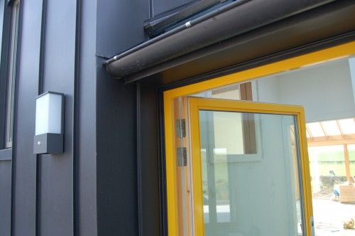 house design strong acid colors windows structure
