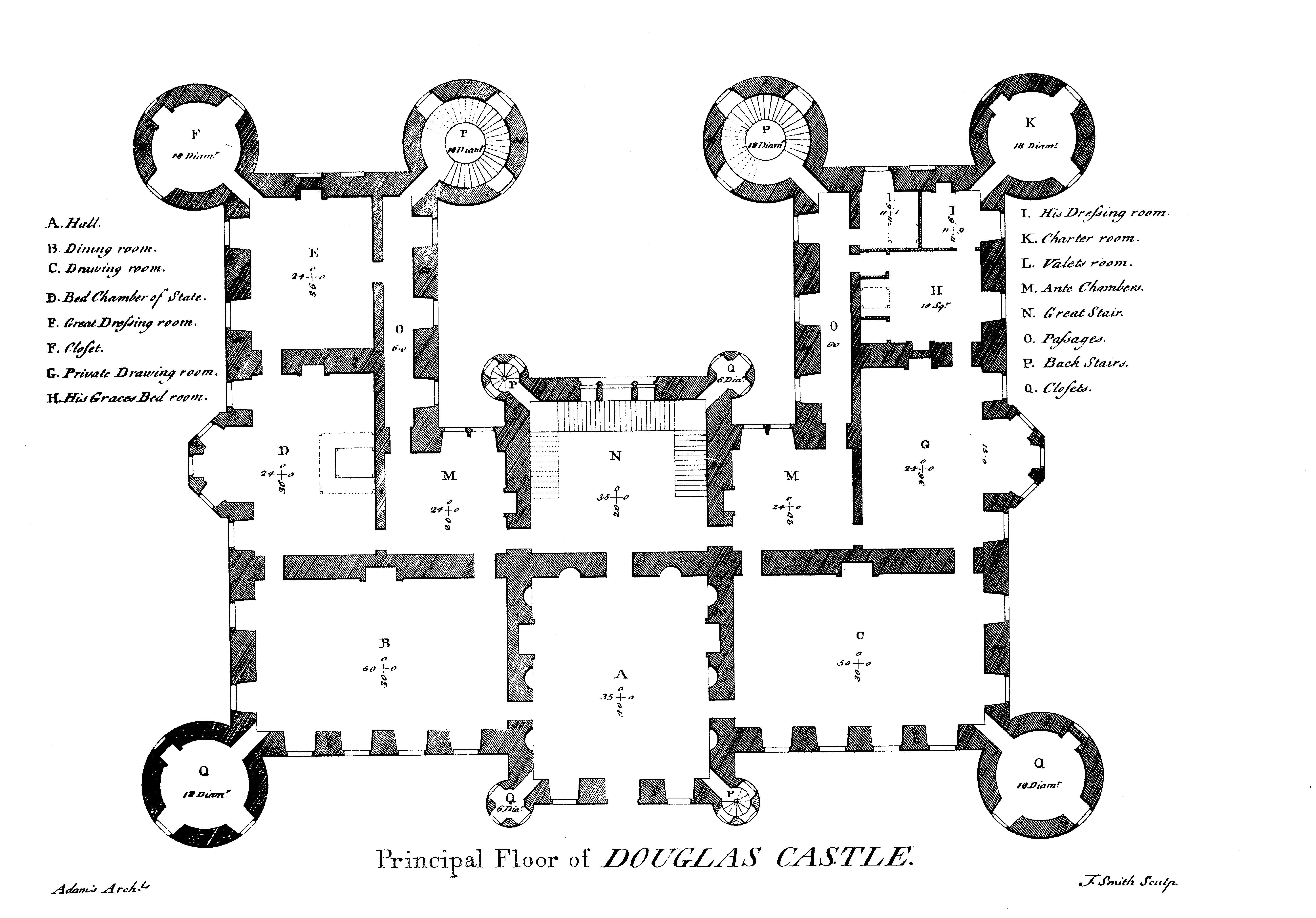 Douglas castle FloorPlan Pinterest Floor plans Floors and