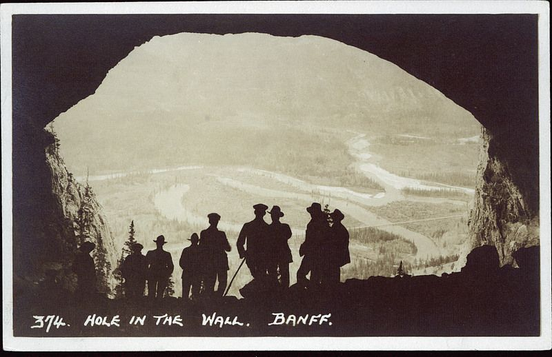 postcard 7408 harmon byron hole in the wall banff on hole in the wall id=68582