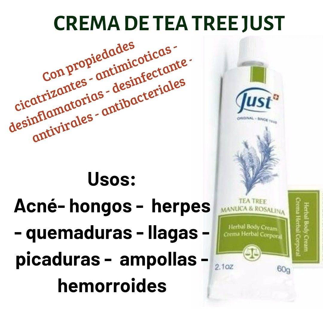 Para que sirve la crema de tea tree de just