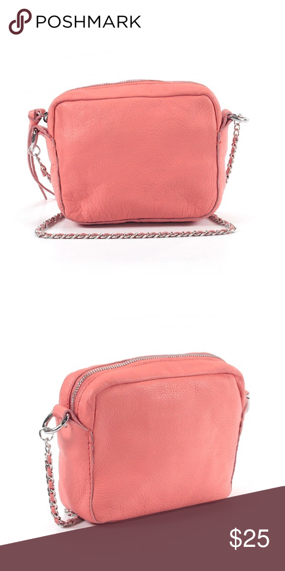 Zara cow leather bag What has a lovely shade of salmon   chic chain details  437e32914a