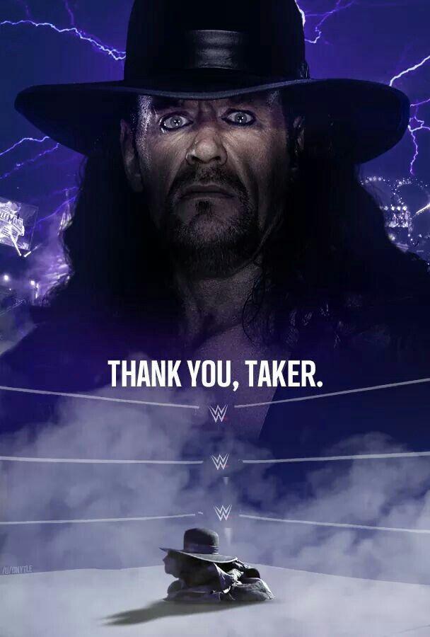 Wwe Wrestlers Undertaker Thank you Taker...