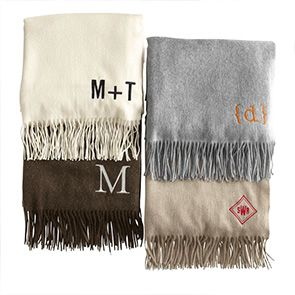 monogrammed throw blankets gift ideas pinterest cashmere throw