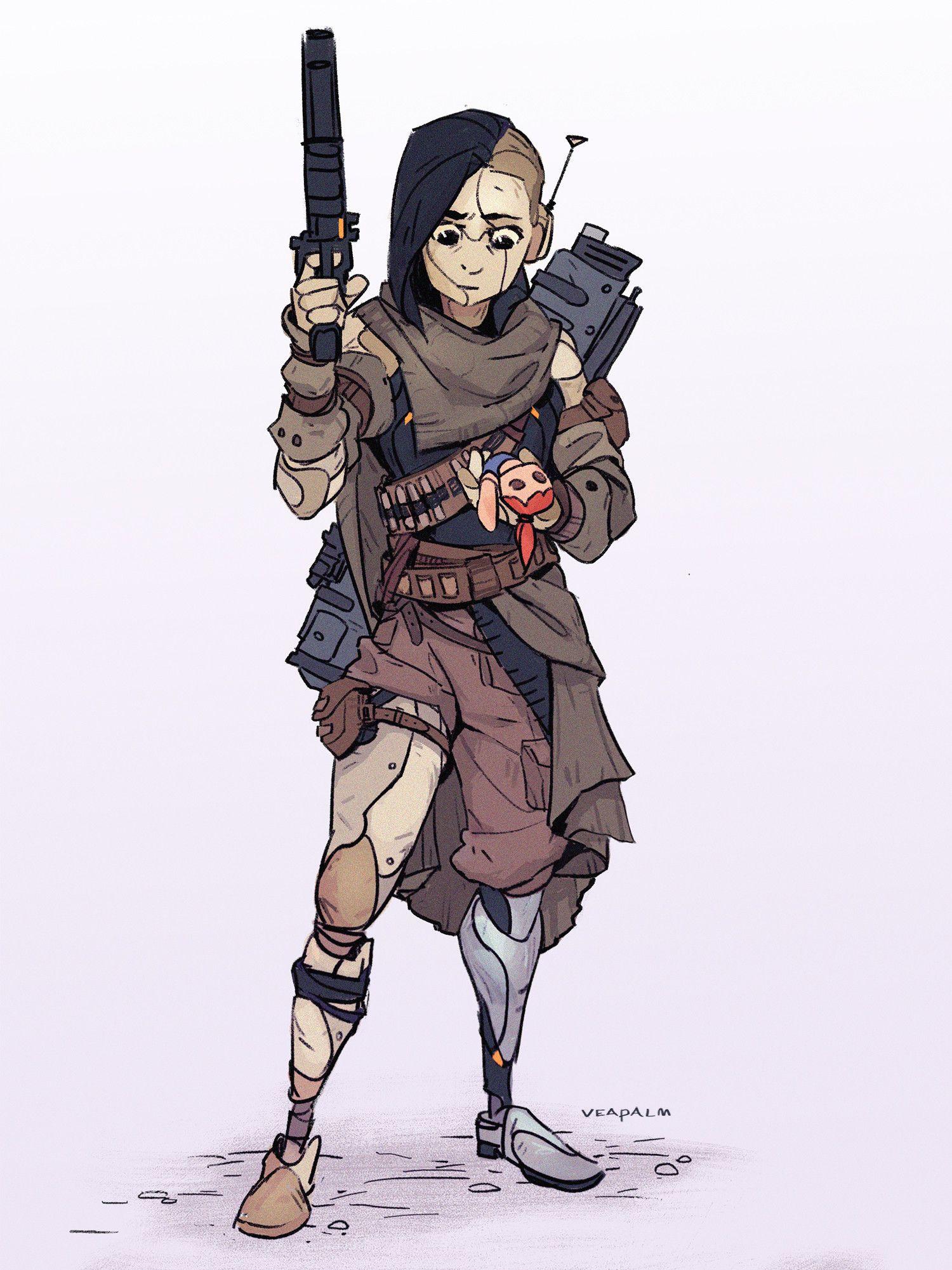 ArtStation Android Character, Vanessa Palmer