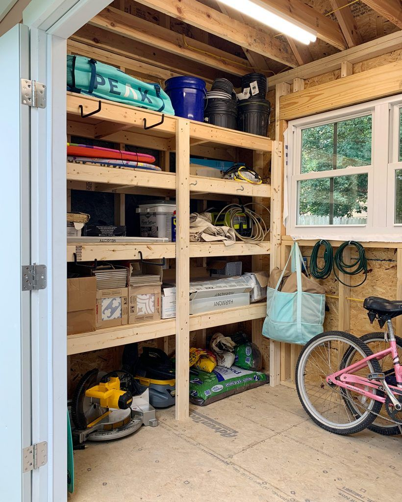 How We Organized Our Beach House Shed Two Tips That Helped A Ton Young House Love Beach House Storage House Shed Pool House Shed