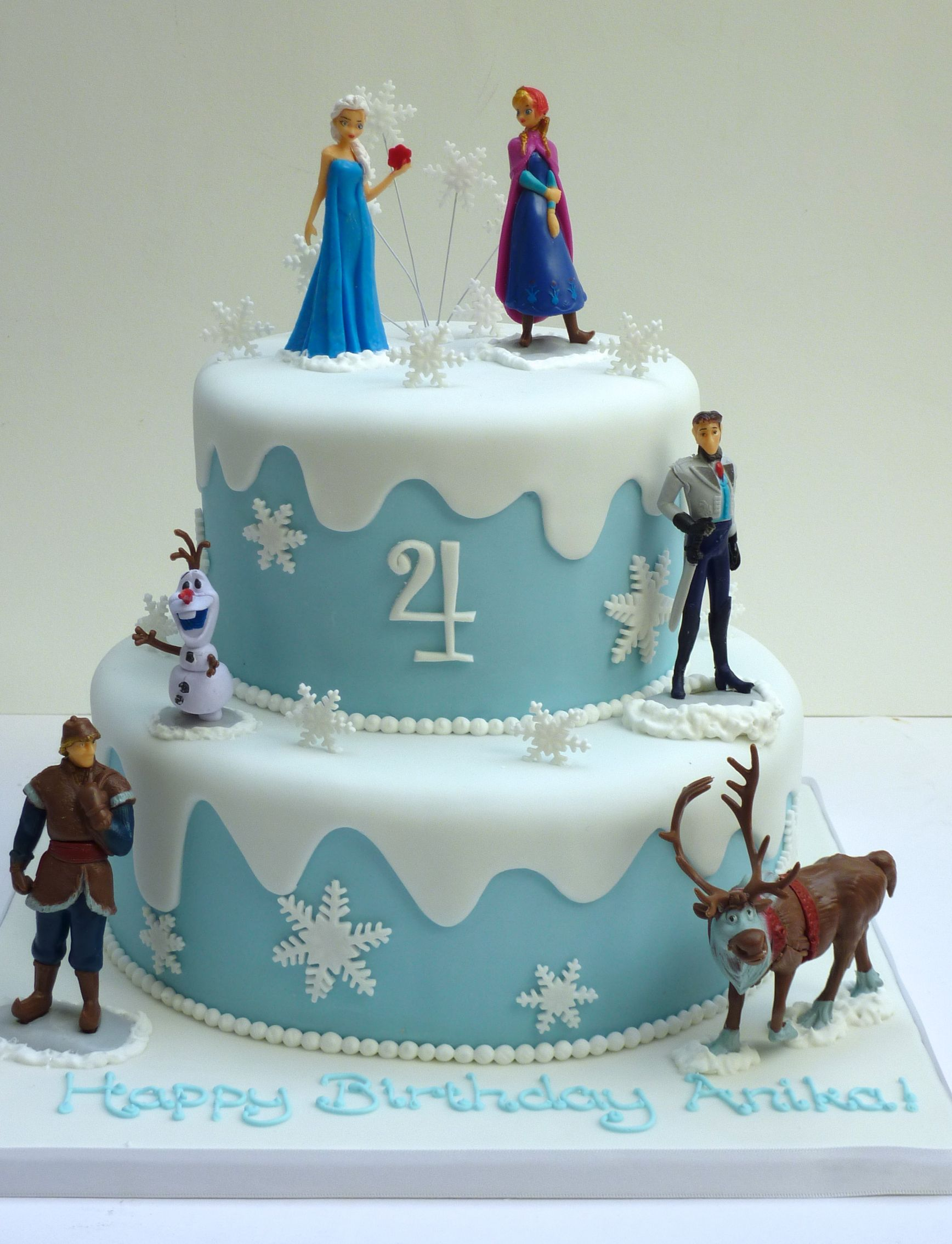 Frozen 2 Tiered Cake With Images Frozen Birthday Party Cake