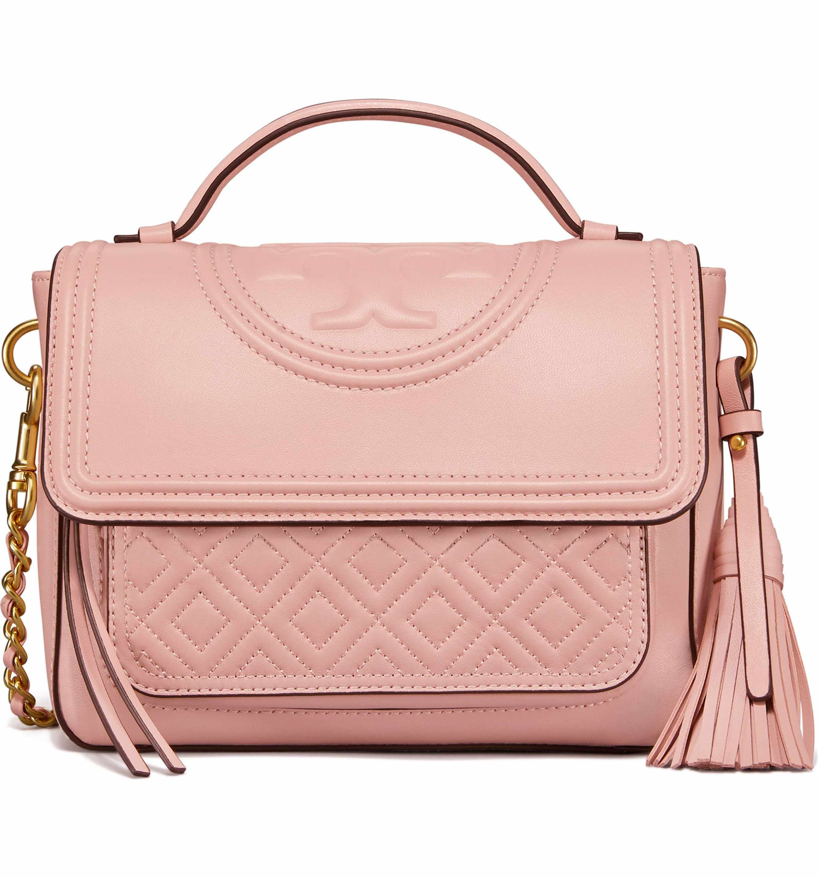 1b0ede07b5ea Main Image - Tory Burch Fleming Quilted Leather Top Handle Satchel ...