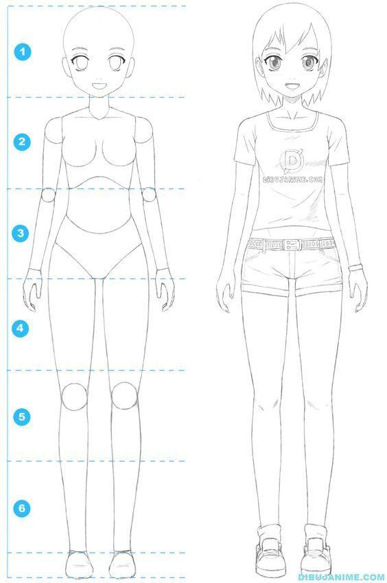 Como Dibujar A Una Mujer Anime Cuerpo Y Rostro Paso A Paso Como Dibujar Chicas Como Dibujar Animes Ensenar A Dibujar