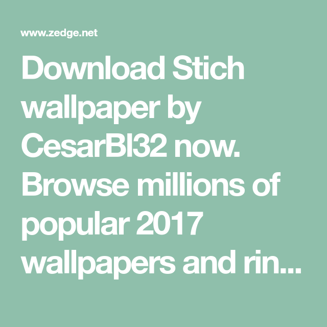 Download Stich Wallpaper By CesarBl32 Now. Browse Millions