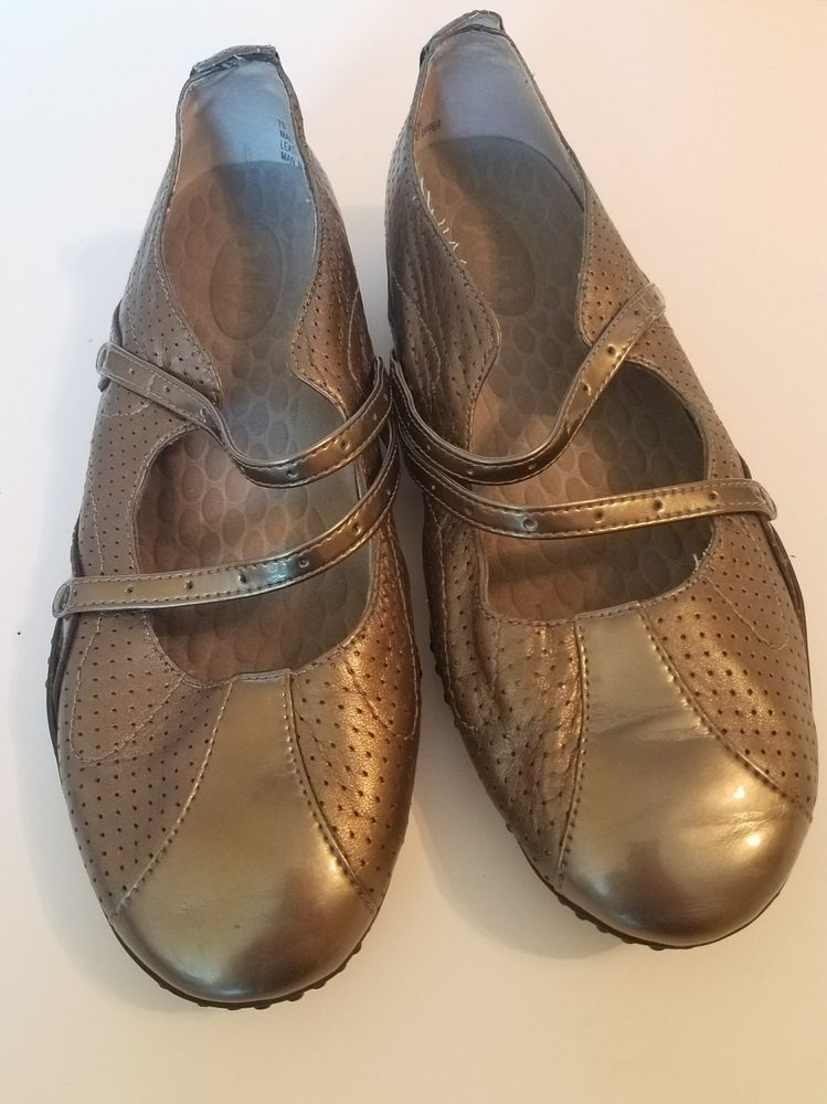 b3c86c747f4 Privo By Clarks Mary Jane Ballet Flats Shoes Bronze Metallic Comfort Slip  On 7M  PrivobyClarks  MaryJanes  Casual